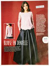 Patron de couture Modes & Travaux - Blouse en dentelle