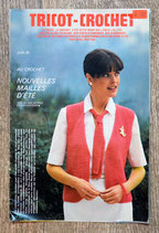 Encart magazine tricot Modes et travaux de juin 1980