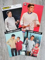 Lot de 4 fiches tricot homme (Vintage)
