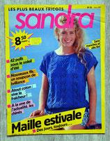 Magazine tricot Sandra 35 - Juin 1987