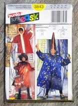 Pochette patron Burda n°3843 - 3 déguisements enfant