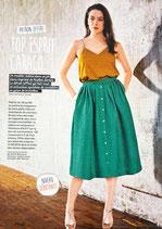 Patron de couture Modes & Travaux - Top esprit caraco