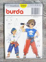 Pochette patron Burda 5489 - Déguisement pirate