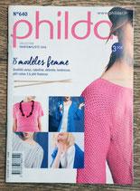 Mini magazine Phildar 640 - 15 modèles femme