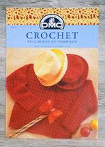 Fiche crochet DMC 11609-1 - Pull rouge et chapeau