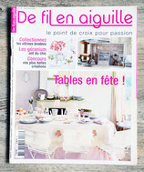 Magazine De fil en aiguille n°63 - Tables en fête