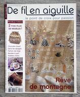 Magazine De fil en aiguille n°35 - Rêve de montagne
