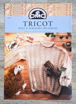 Fiche tricot DMC 11608-1 - Pull à torsades irlandais