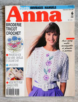 Magazine Anna Burda ouvrages manuels juin 1989