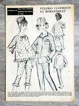 Patron Modes de Paris n°823 - Pyjama femme vintage
