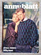 Magazine tricot Anny Blatt n°77 - Spécial hommes