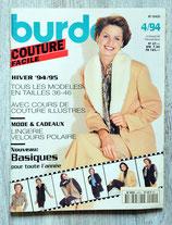 Magazine Burda Couture facile 4/1994 / Hiver 94-95