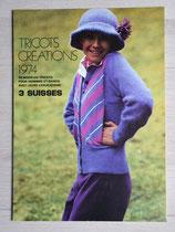 Magazine tricots créations 1974 - 3 Suisses