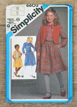 Pochette patron couture Simplicity 6603 - Robe et gilet fille