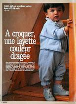 Patron de couture Prima 8.87 - Patron brassière, salopette et veste pour bébé