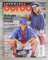 Magazine Burda enfants printemps-été 1995 - E303