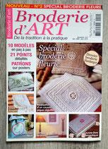 Magazine Broderie d'Art n°2 - Spécial broderie fleurie