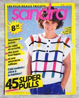 Magazine tricot Sandra n°36 - Juillet 1987
