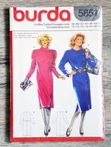 Pochette patron Burda 5851 - Robe (Vintage)