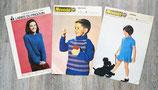 Lot de 3 fiches tricot enfant (Vintage)