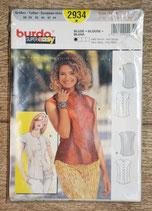 Pochette patron Burda 2934 - Blouse boutonnée dame