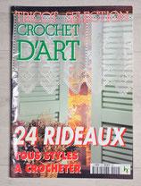Magazine Tricot sélection crochet d'art HS - 24 rideaux tous styles