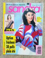 Magazine tricot Sandra 84 - Juillet 1991