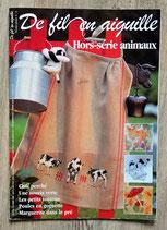 Magazine De fil en aiguille Hors série animaux