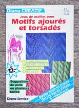 Magazine tricot Diana Créatif 4 - Motifs ajourés et torsadés