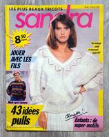 Magazine tricot Sandra n°55 - Février 1989