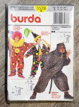 Pochette patron Burda n°3578 - 3 déguisements enfant