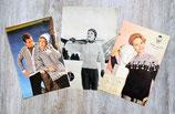 Lot de 3 fiches tricot hiver adulte (Vintage)