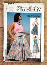 Pochette patron couture Simplicity 6895 - Jupe longue