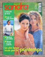 Magazine tricot Sandra 164 - Mars 1998