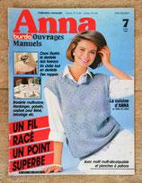 Magazine Anna Burda ouvrages manuels n°7/1985