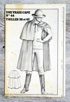 Patron Femmes d'aujourd'hui n°44 de 1980 - Cape