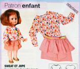 Patron de couture Modes & Travaux - Sweat et jupe enfant