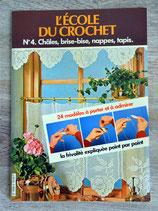 Livre L'école du crochet n°4 - Châles, brise-bise, nappes, tapis