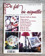 Magazine De fil en aiguille n°16 - Dossier Noël en Alsace