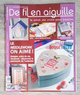 Magazine De fil en aiguille n°71 - Tradition rouge et bleu