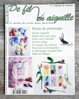 Magazine De fil en aiguille n°12 - Points de printemps