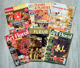 Lot de 6 magazines d'art floral et déco de table - Noël