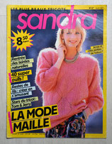 Magazine tricot Sandra 37 - Août 1987