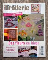 Magazine Ouvrages broderie 62 de janvier 2005 - Des fleurs en hiver