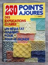 Livre tricot 230 point ajourés