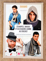 NEUF - Livre Echarpes, snoods et accessoires homme au crochet