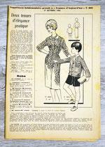 Patron Femmes d'aujourd'hui n°808 - Deux tenues femme-enfant