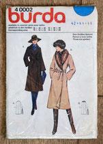 Pochette patron Burda n°40002 - Manteau femme (Vintage)
