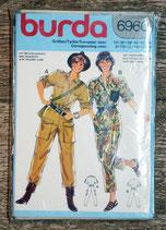 Pochette patron couture Burda 6960 - Combinaison dame