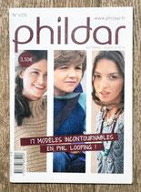 Mini magazine Phildar 605 - 17 modèles en fil looping